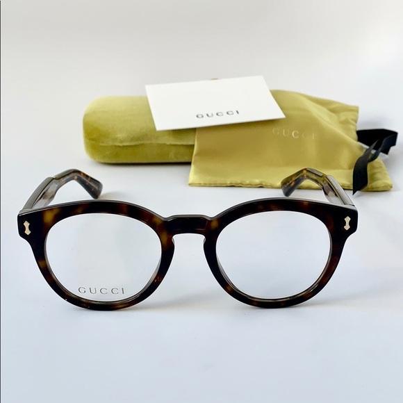 4614fc8382a Gucci Eyeglasses GG0185O-002 Havana Frames